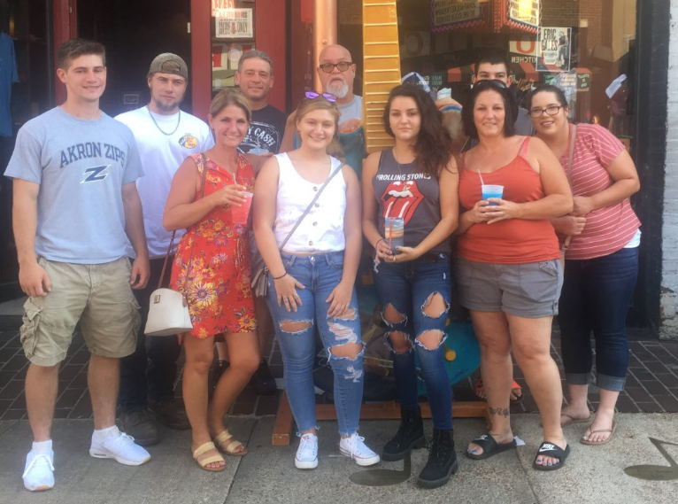 family on beale street in memphis