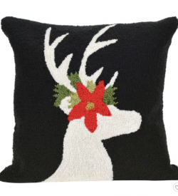 Black Christmas Pillow