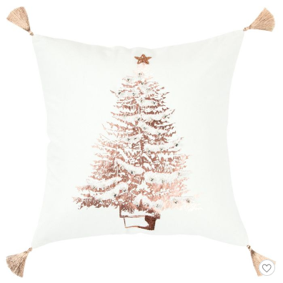christmas tree with tassels pillow