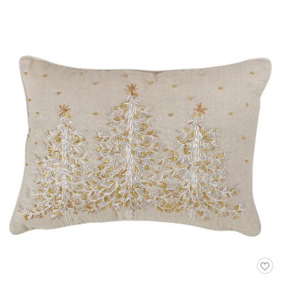 Gold christmas pillow