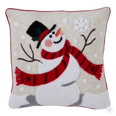 christmas pillow snowman